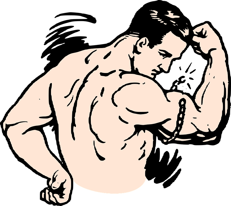 Biceps drawing cartoon. Muscle arm group with
