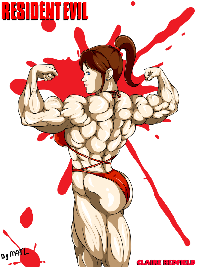 Biceps drawing double. Claire redfield back by