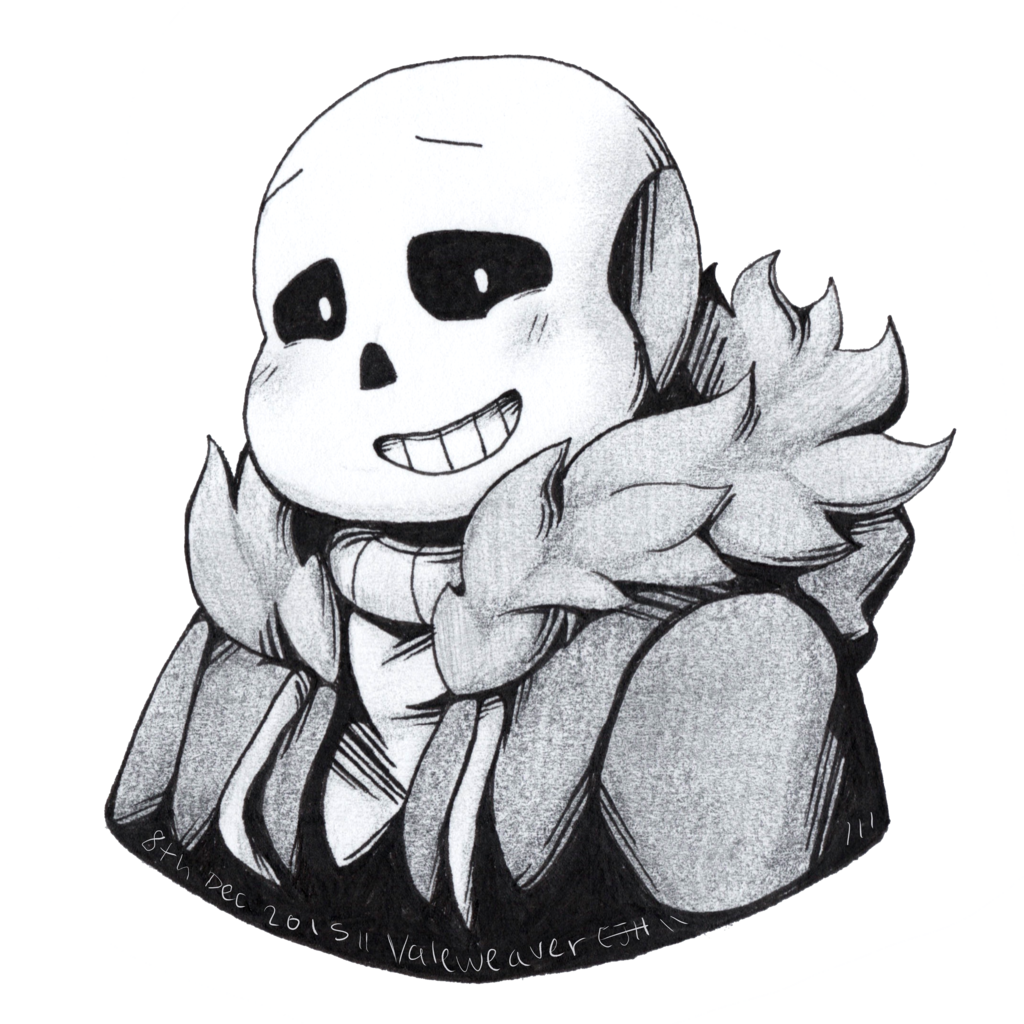 Biceps drawing sans. Pencil and ink by