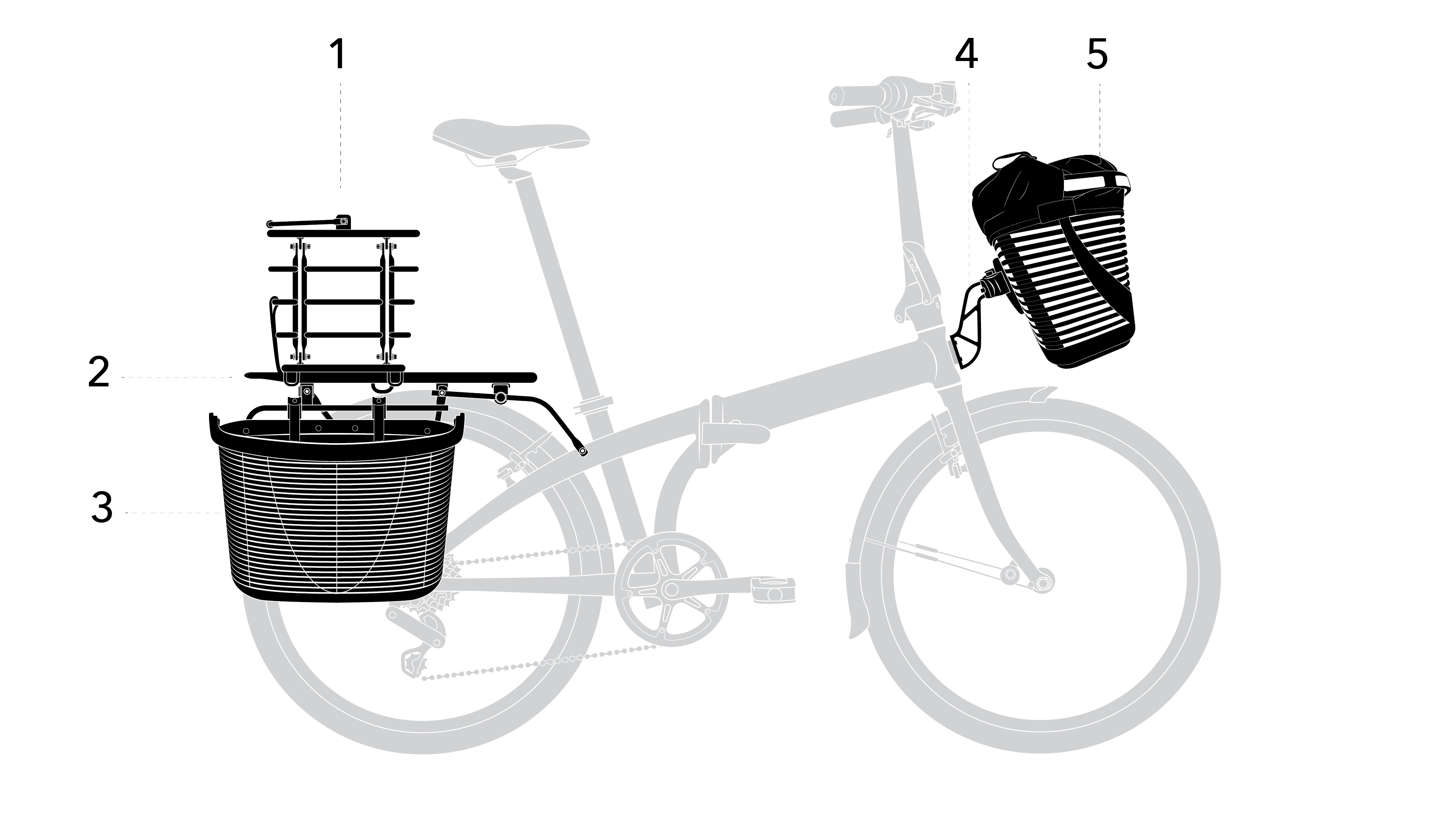 Pannier clip grocery. Boost your cargo capacity