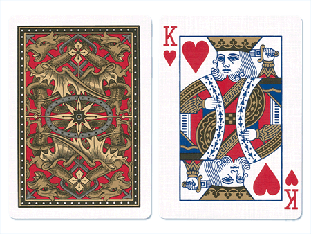 Bicycle cards png. Gold dragon playing blue