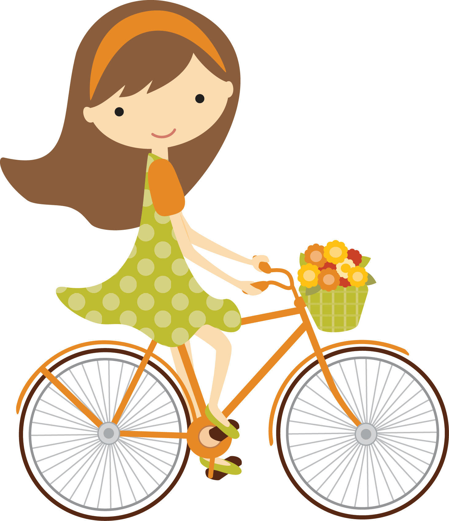 Bicycle cartoon png. Bicicleta fallgirlbrown minus clipart