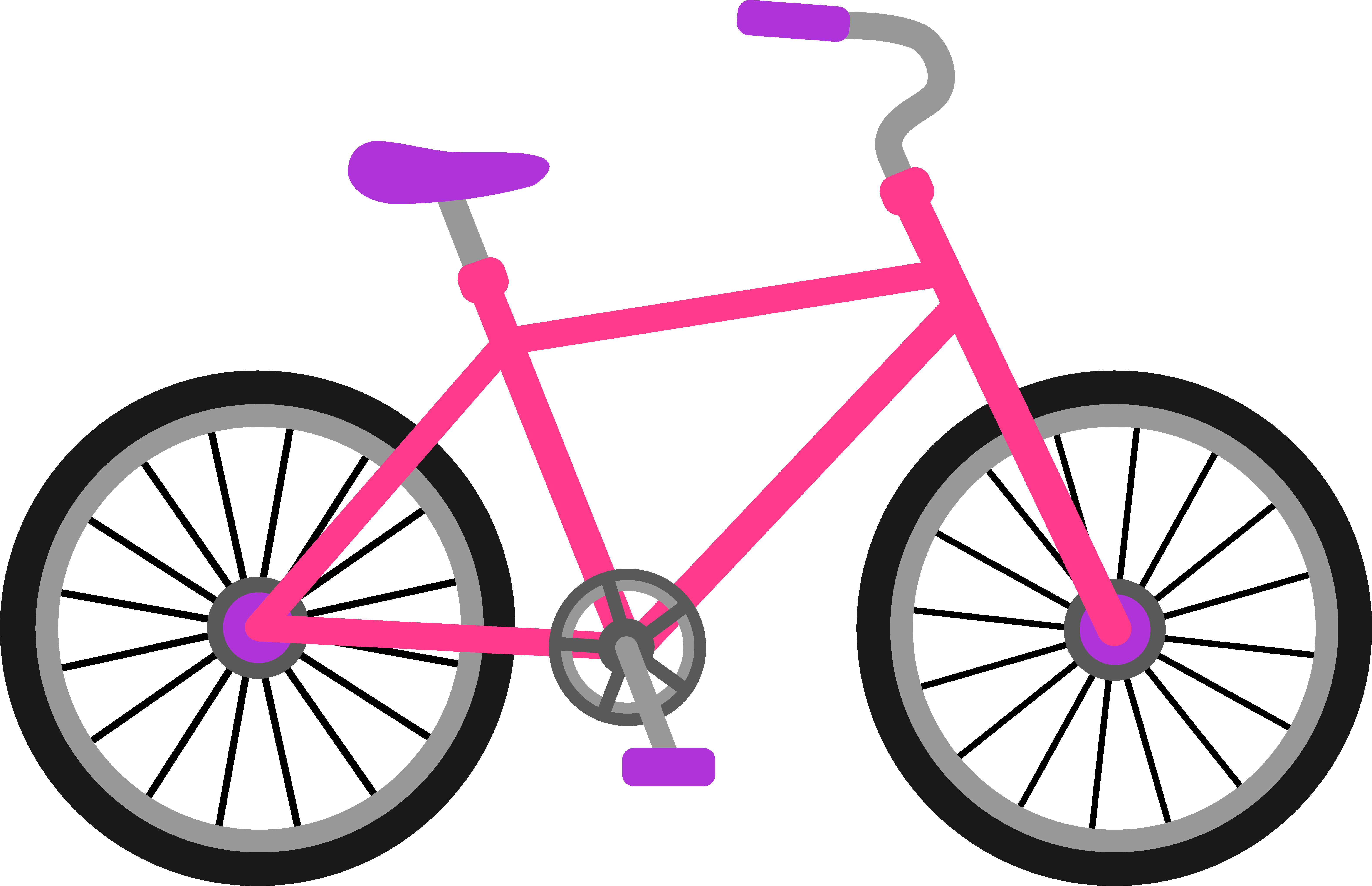 Girl on bicycle . Cycle clipart image