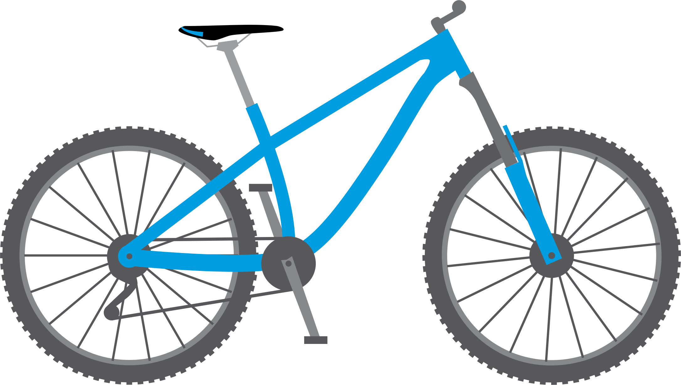 Blue bicycle. Clipart big image png