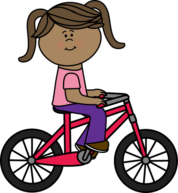 Bicycle clipart. Clip art images girl