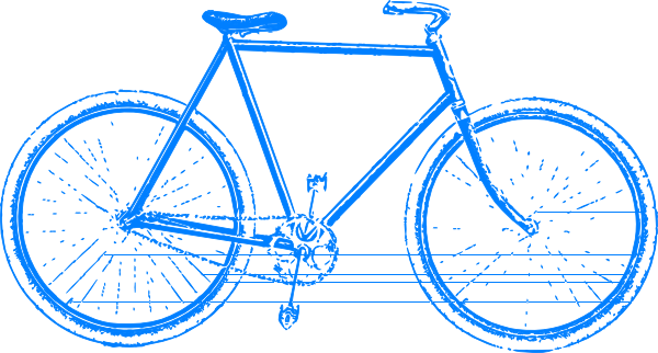 Cycle clipart cycling class. Free bicycle blue cliparts