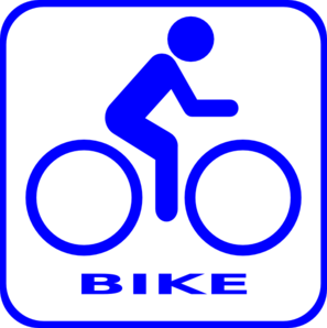 Bicycle clipart blue bicycle. Bike icon clip art