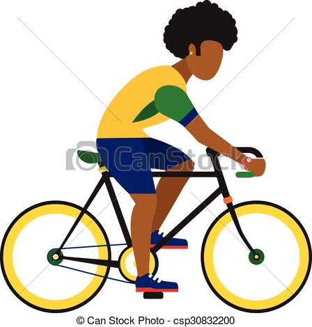 Cycling clipart man. Black ride by road image black and white library