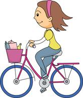 Riding clipart. Sports free bicycle to