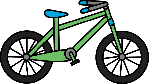 Brown bicycle. Green bike clipart