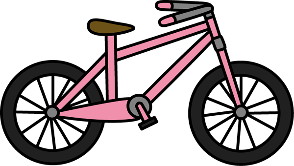 Bicycle clipart. Clip art images pink