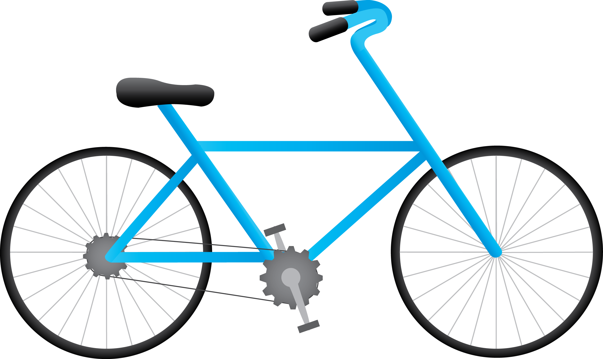 Bicycle png. Blue drawing clipart free