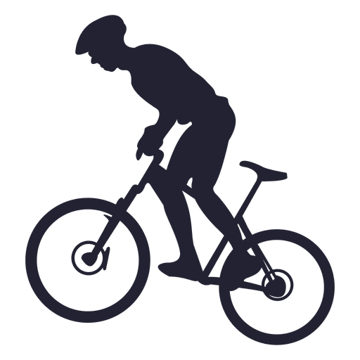 Cycle vector. Riding mountain bike transparent