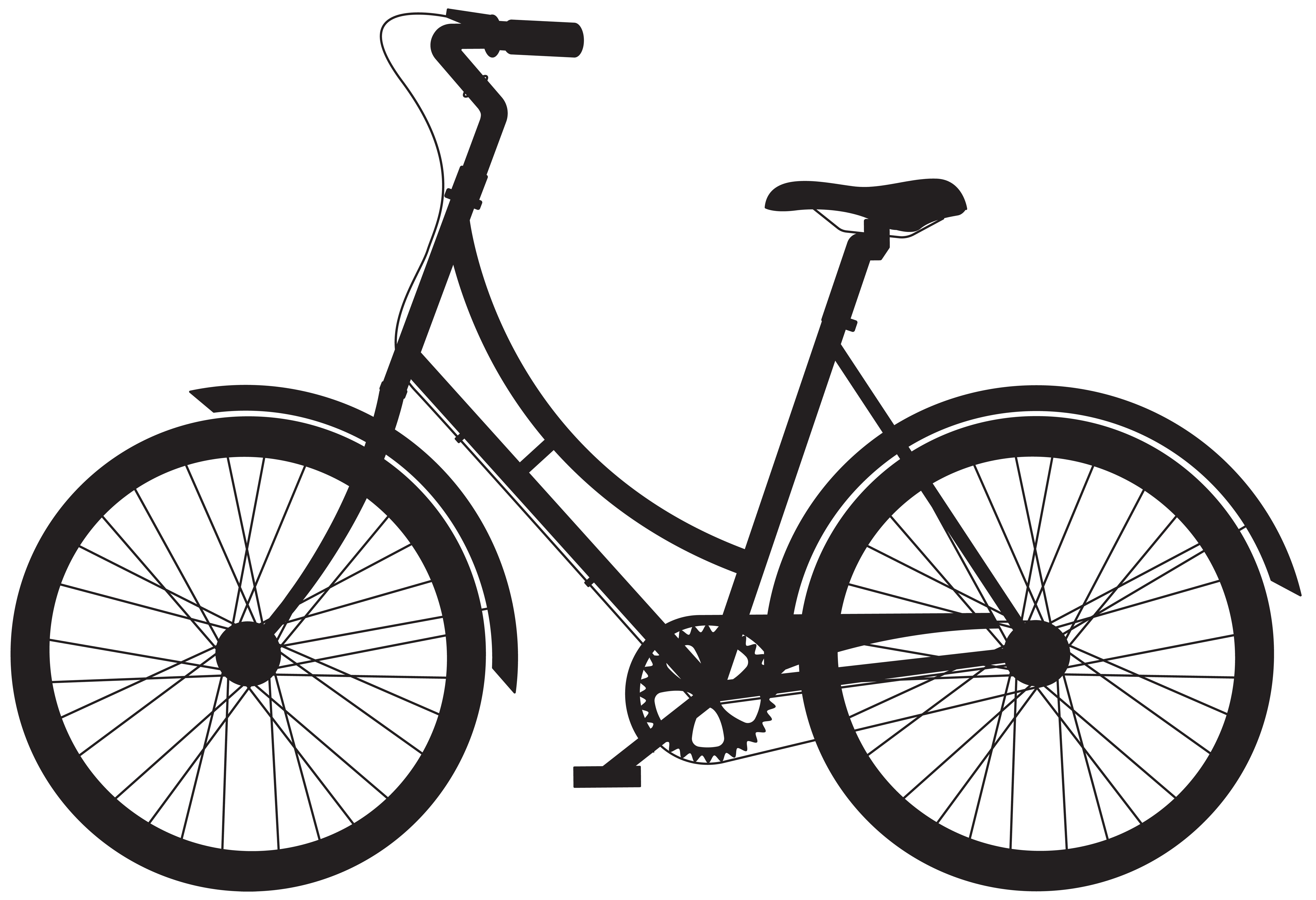 Bicycle silhouette png. Clip art gallery yopriceville