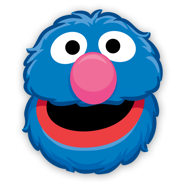 Big bird face png. Grover mr snuffleupagus elmo