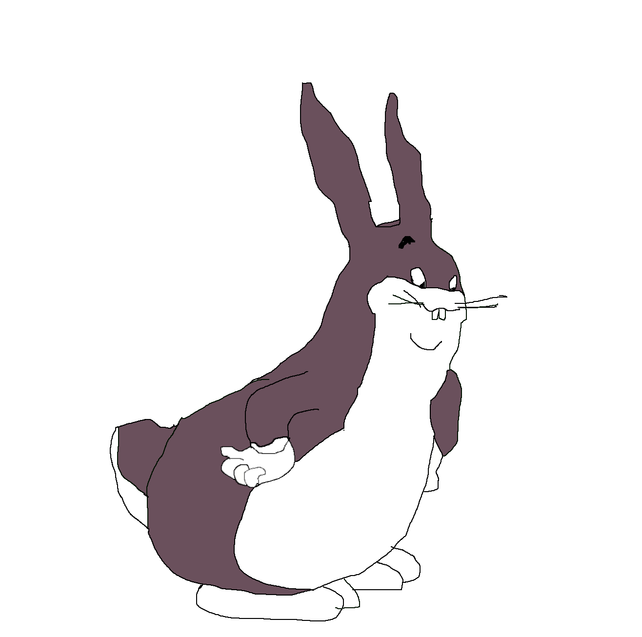 Big chungus clipart white background. Here i made an