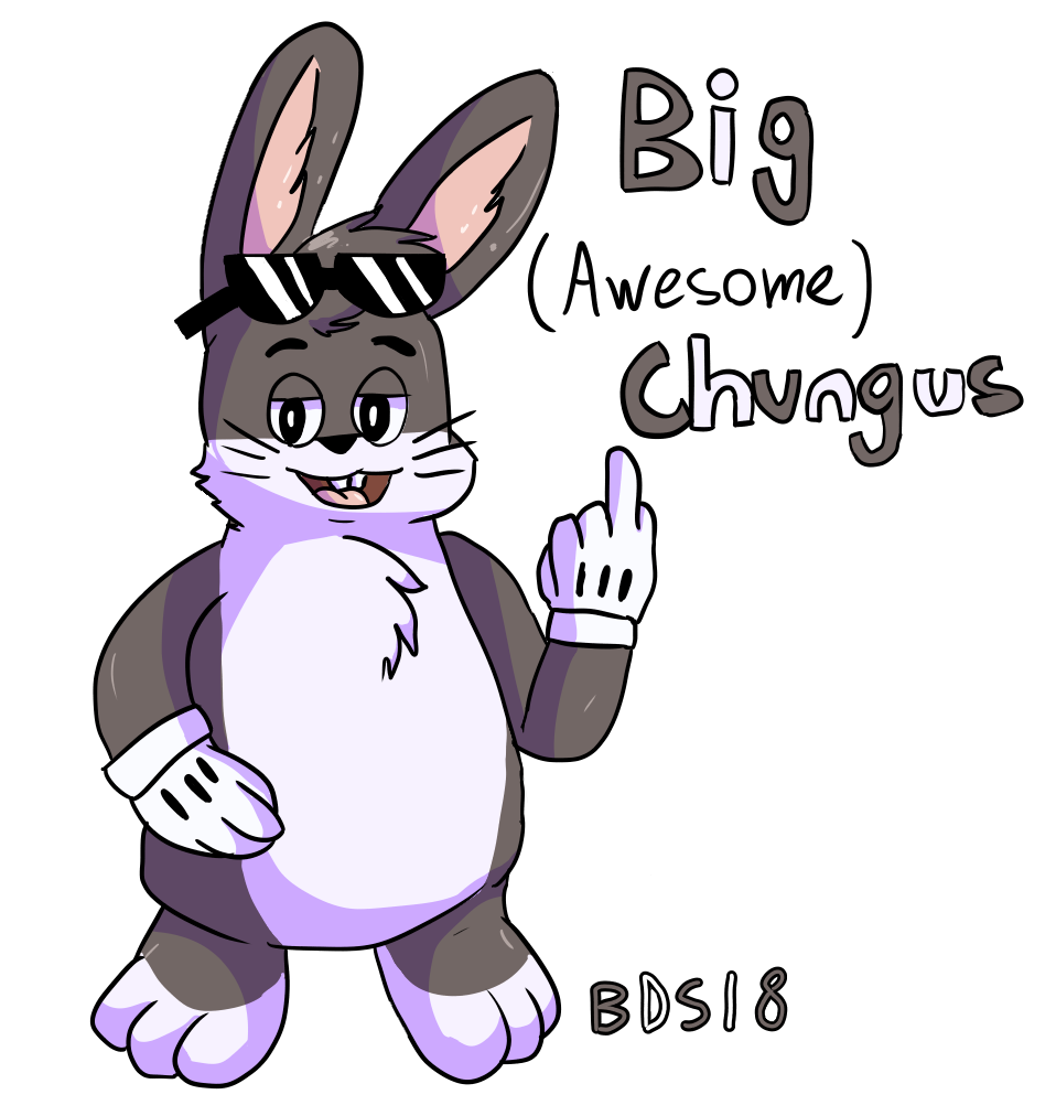 Big chungus clipart real. By bds on newgrounds