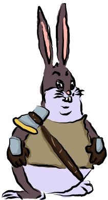 Big chungus clipart real. Fighter by iantosh on