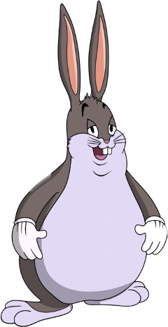 Big chungus clipart white background. Popular and trending stickers