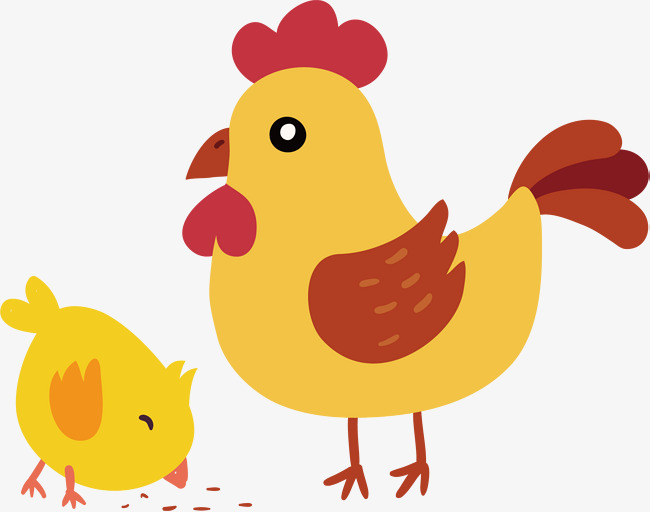 And little yellow chicken. Cute clipart hen clip transparent library