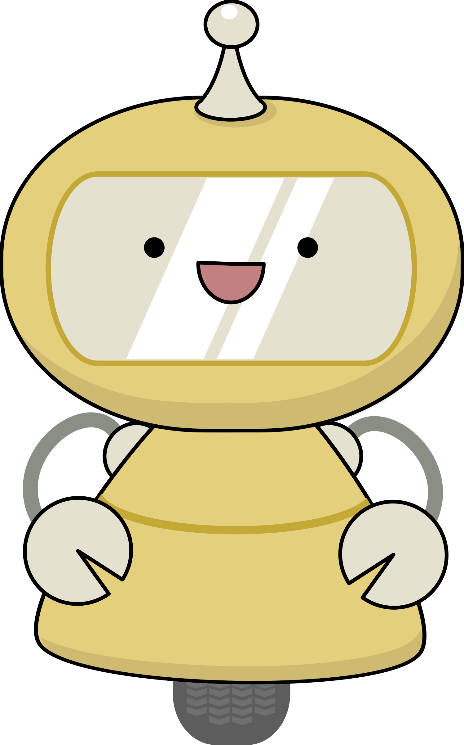 Big clipart friendly. Robot in yellow image