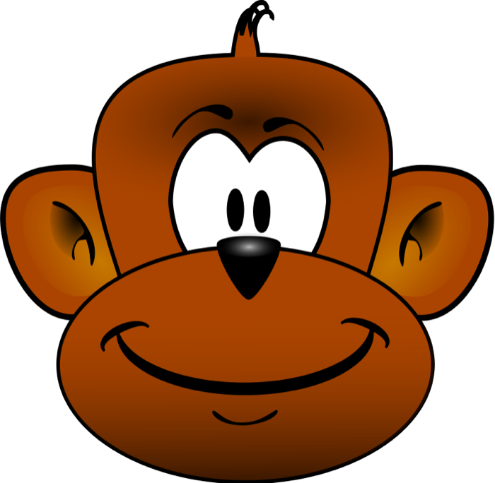 Big clipart monkey. Free this cute cartoon