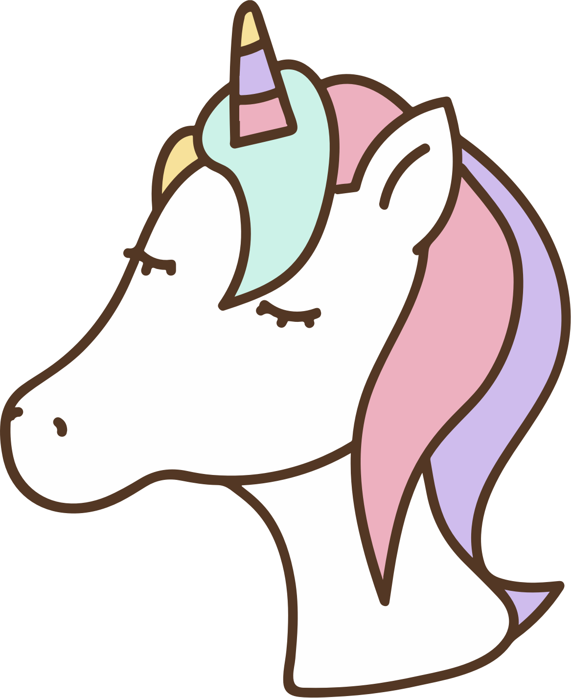 Nicorn clipart cute. Unicorn head big image