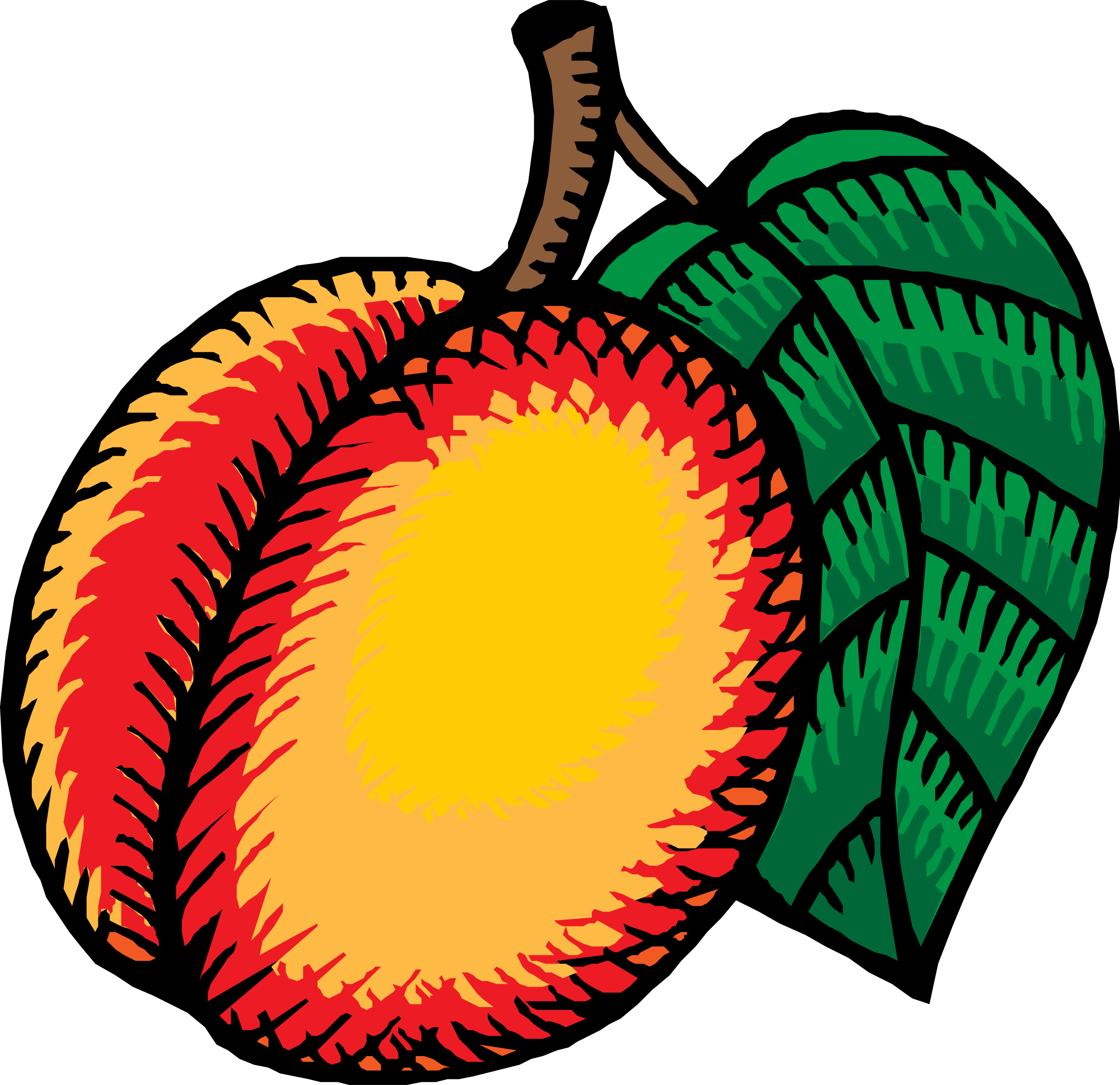 Big nectarine. Clipart images gallery for