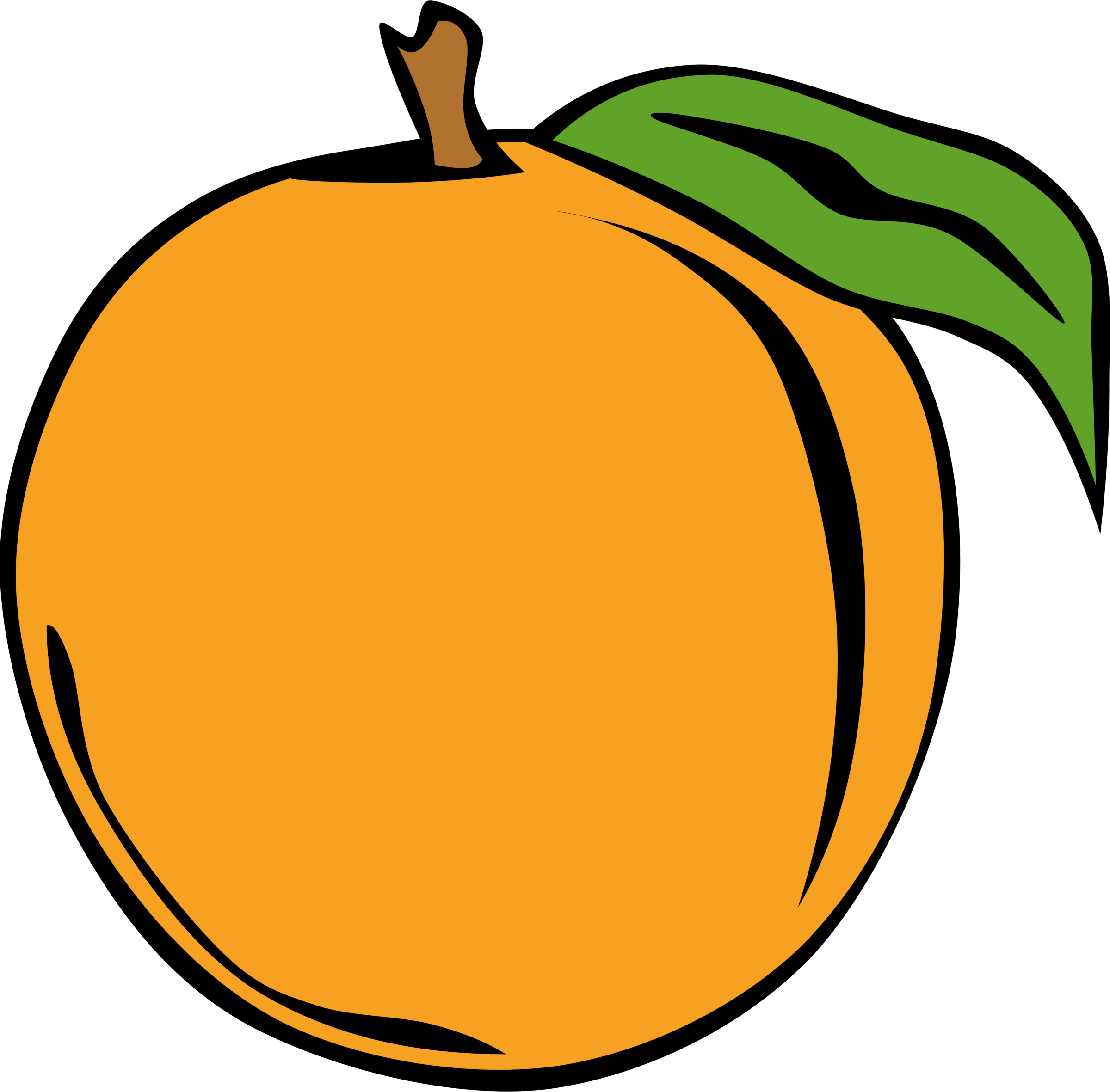 Big peach. Fruits clipart transparent free