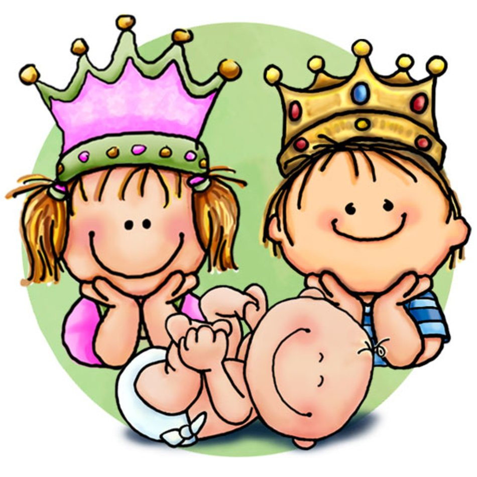 Big sister. Brother baby clip art