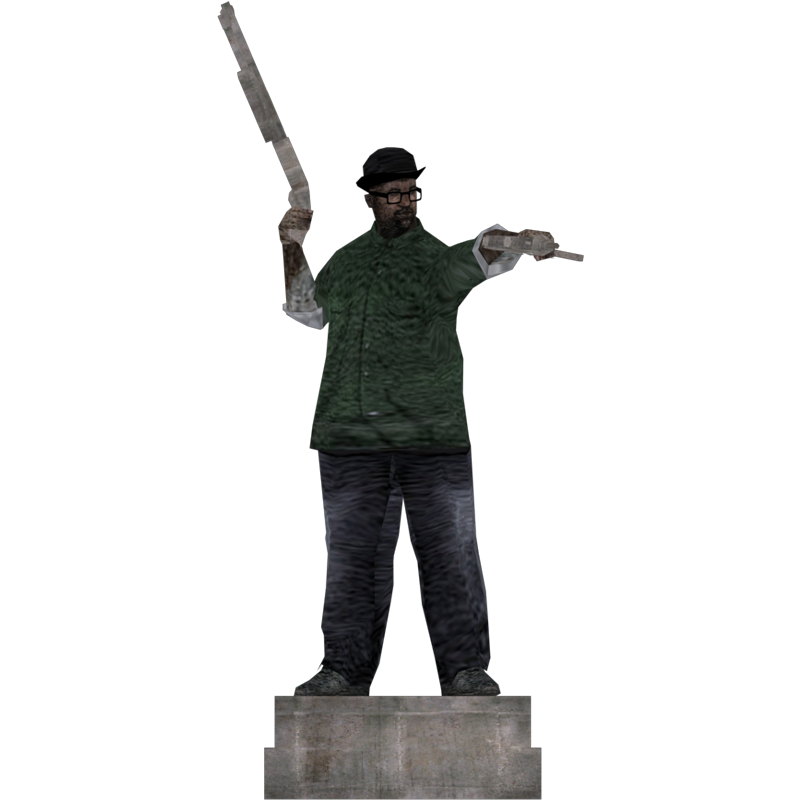 Big smoke png. Statue based on the