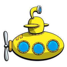 Big submarine. Clipart submersible