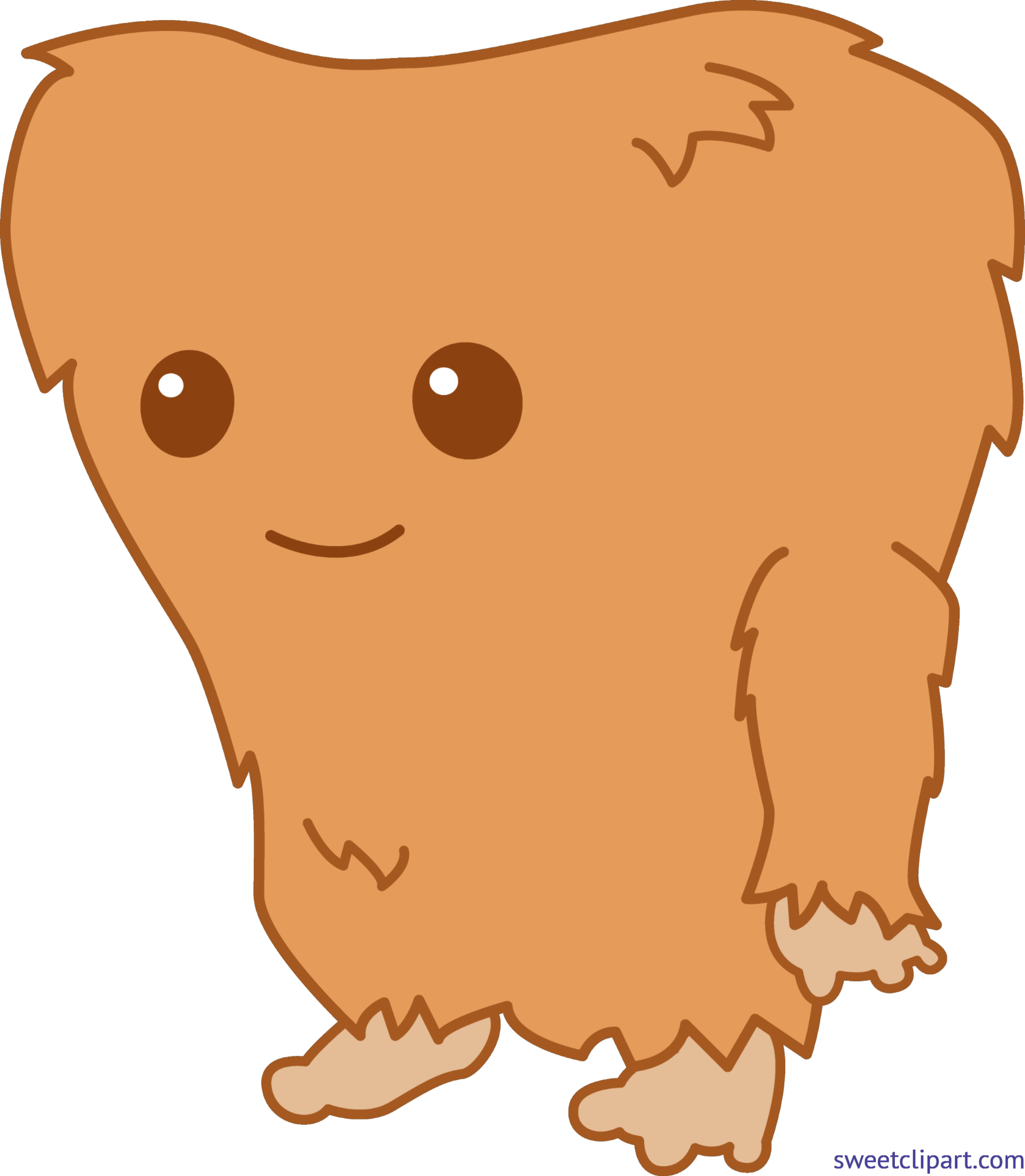 bigfoot transparent clipart