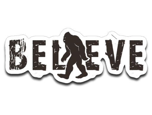 Pnw sticker believe journey. Bigfoot field png graphic free library