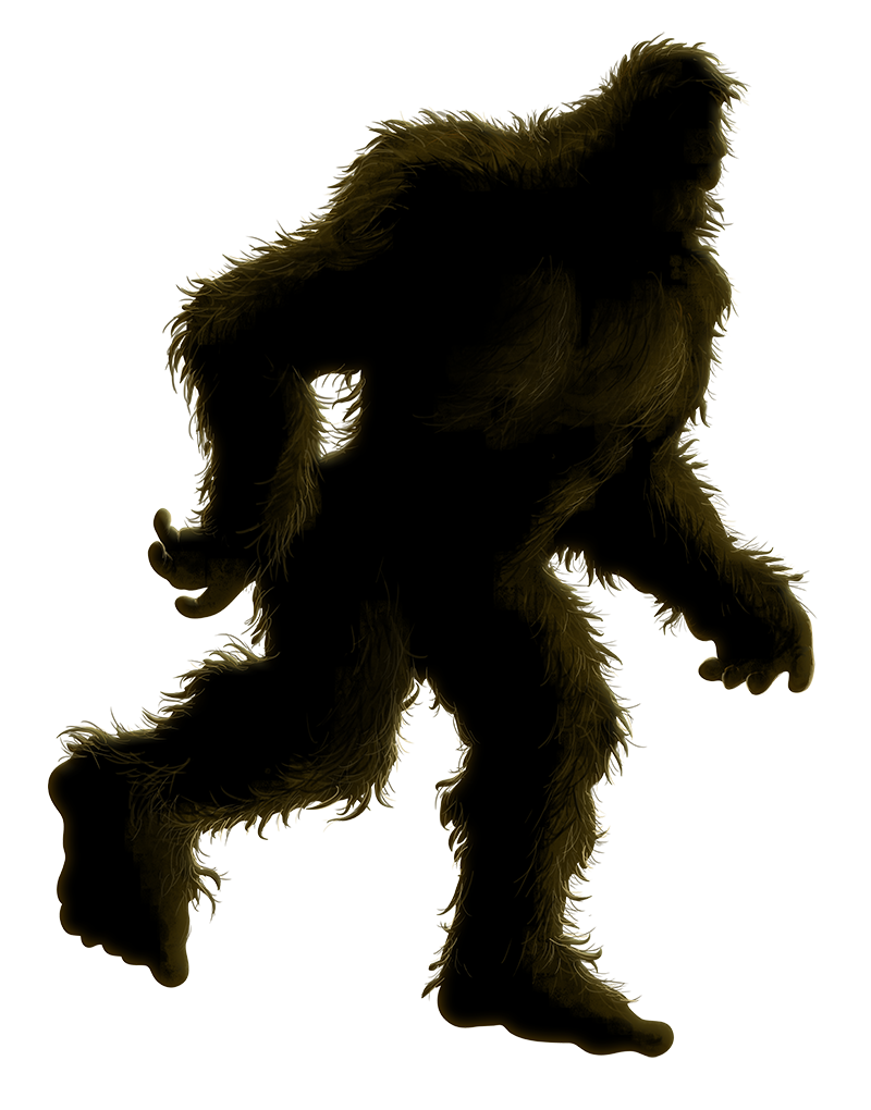 Mystery town usa . Bigfoot png black and white