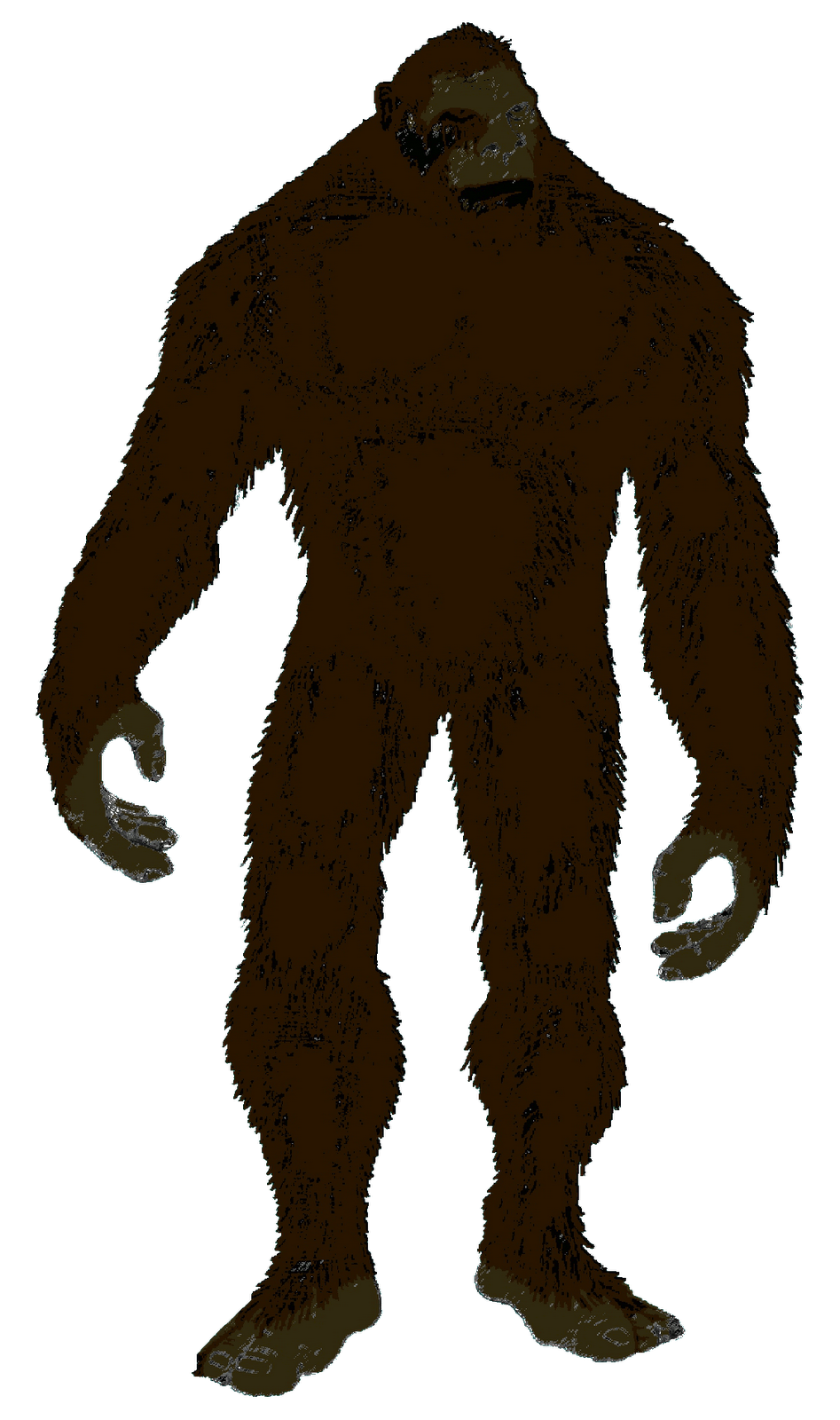 Silhouette yeti clip art. Bigfoot png image black and white