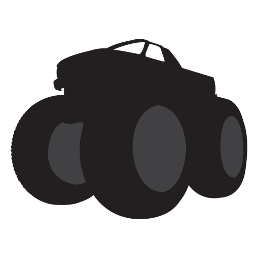 Monster truck silhouette transparent. Bigfoot svg png free library