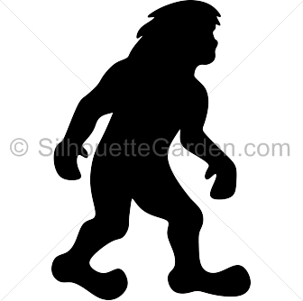 Silhouette . Bigfoot svg banner black and white library