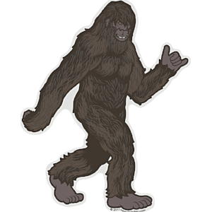 Creatures the heart sticker. Bigfoot png jpg royalty free stock