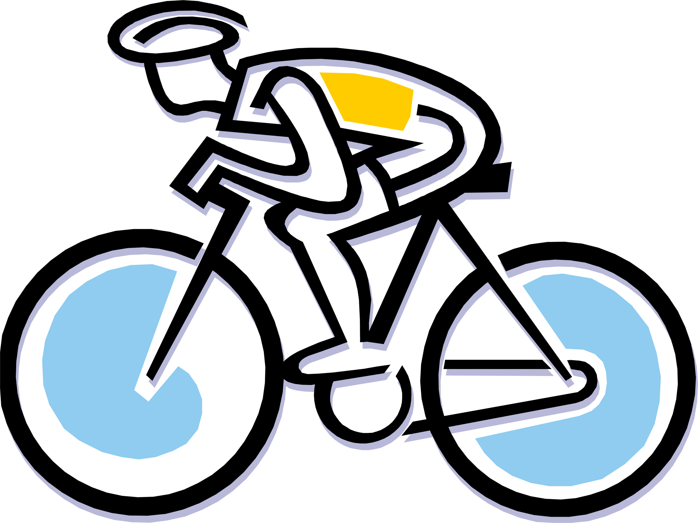 Bike clip rodeo. Clipart transparent stock
