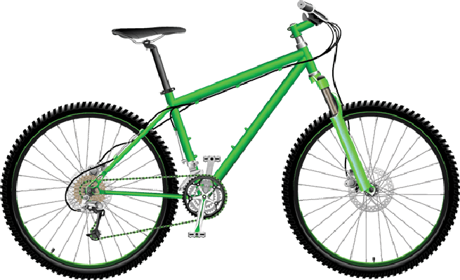 Bike clipart. Bikes and bicycles green