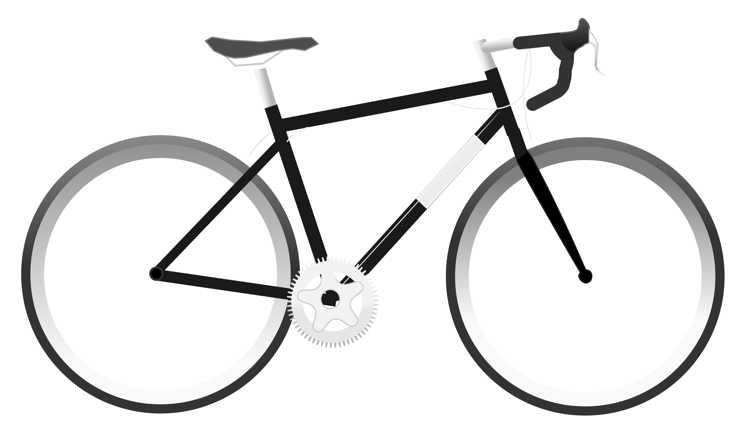 Portfolio drawing bicycle. Simple bike clipart transparent