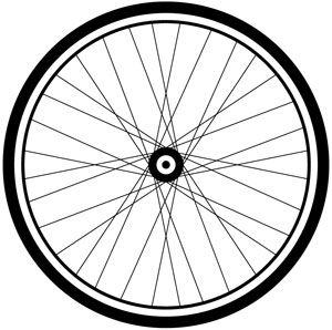Cycle clipart bicycle drawing. Bike wheel panda free