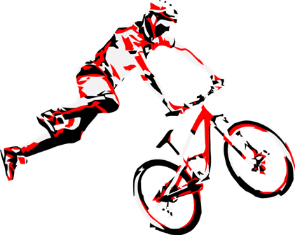 Vector bike sport. Free dirt clipart download