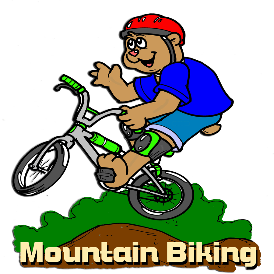 Cycle clipart toddler bike. Mountain biking cartoon picture