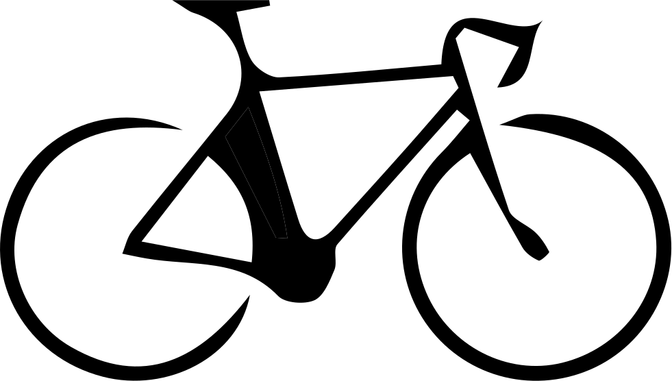 Bicyc road png icon. Bike svg black and white