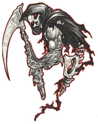 Biker tattoos png. Grim reaper ink pinterest