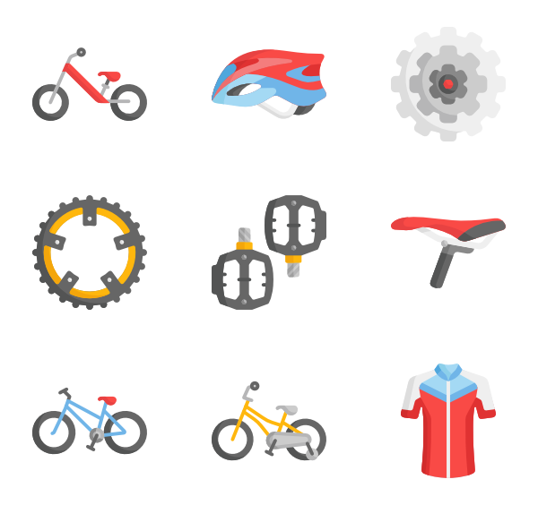 Cycle vector top view. Bike icons free bicycle