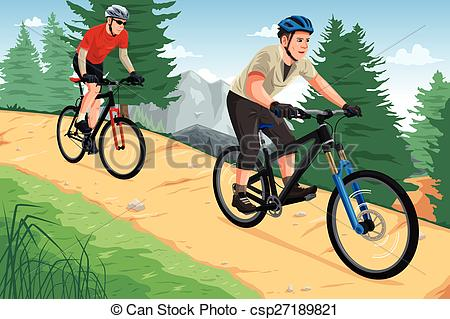 People riding bikes a. Cycling clipart mountain bike clip transparent