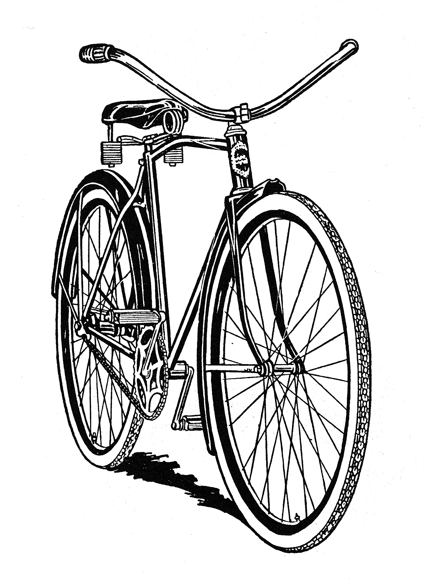 Cycle clipart old bicycle. Public domain bike sweet